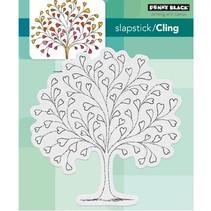 Transparent stamp: heart tree