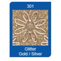 Micro-Glitter-Sticker, Linien, gold