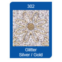 Micro Glitter Stickers, lignes, argent / or