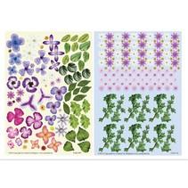 Twin Pack flowerart purple,