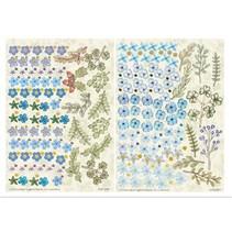 Twin Pack flowerart, blå, lille