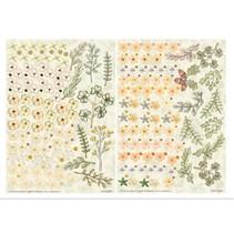 Twin Pack flowerart, gule toner, lille