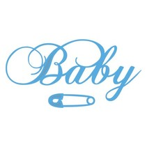 Stanzschablonen: Text BABY