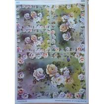Decoupage papir Flower Design