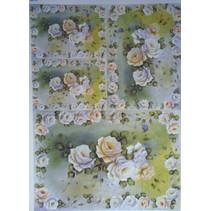 Decoupage paper roses Design