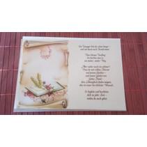 Poemas em papel vegetal, Confirmação