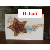 Glitter cardboard, 10 sheets 280gsm A4 format, light brown
