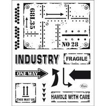 Transparent stempel: Industriel stil