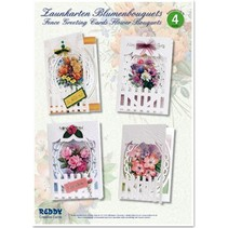 Craft Kit, Fence Greeting Cards Flower Bouquets