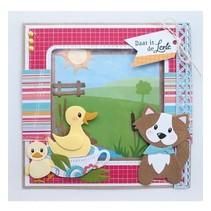 Stanzschablone: Eline's duck family