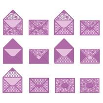 Stanz-und Prägeschablone: Umschlag, für A6 Karten