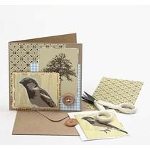 Jeu de 10 cartes et enveloppes + de guidage d'image gratuit pour une carte nostalgique + Designer gratuit Série de documents