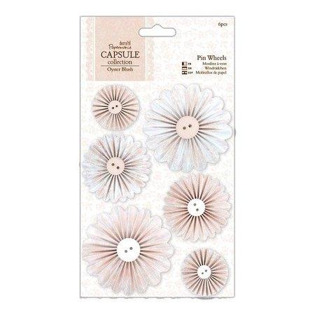 Embellishments / Verzierungen Pin Ruedas 6 piezas - Cápsula Collection - Oyster Blush