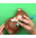 Objekten zum Dekorieren / objects for decorating 1 forma de espuma de poliestireno, el oso con la cinta, 20 cm