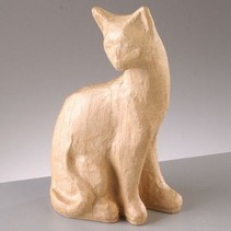 PappArt Figur, Katze sitzend