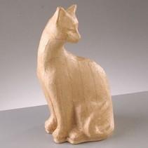 PappArt figur, kat sidde