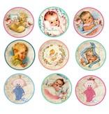 Embellishments / Verzierungen 9 Las etiquetas con motivos de lindo bebé