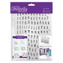 Transparent Stempel mit große und kleine Buchstaben