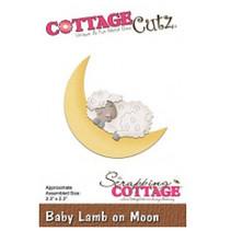 Modèle de poinçonnage: moutons au bois dormant et la lune