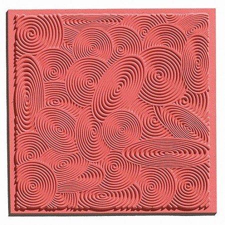 1 Spirales tapis de texture, 90 x 90 mm