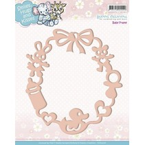 Embossing and cutting template, baby frame