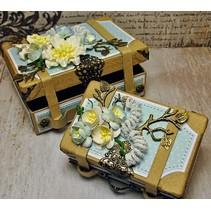 2 Nostalgic mini suitcase, made of strong cardboard.