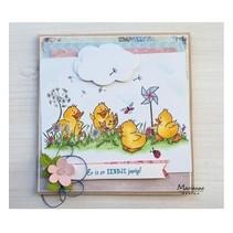 Transparent Stamp: cute ducklings