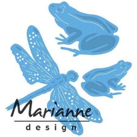 Marianne Design Punzonatura modello: rane e libellula