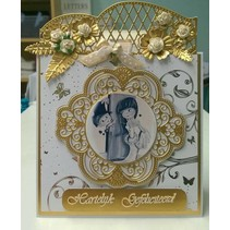 Punching template: Vintage decorative frame and corner