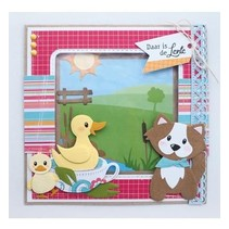 Punching template: Eline's duck family