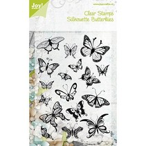 sello transparente, mariposas