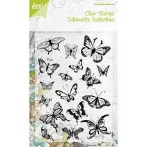 timbre transparent, papillons