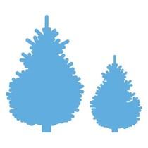 Stanzschablone: Set Tannenbaumen