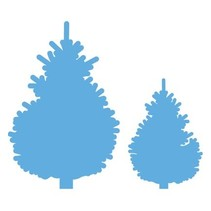 Stamping template: set of Christmas trees