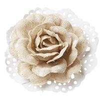 Roses dans l'optique de lin 6cm - 2 pièces