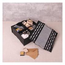 Boîte de rangement à compartiments et couvercle