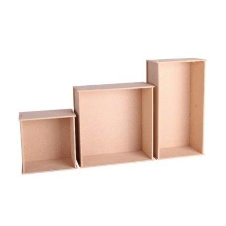 Holz, MDF, Pappe, Objekten zum Dekorieren Dekoration Boxe