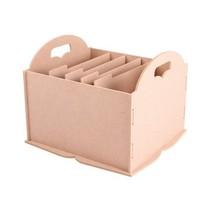 Boîte de rangement à compartiments, par exemple pour le papier