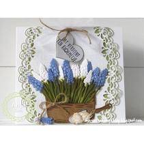 Stansning og prægning skabelon, hyacinter