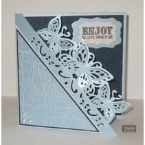 NEU Stanzschablonen: Filigrane Card Large Format Edge'ables, Schmetterlinge