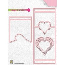 Stansning skabelon: Magic Card, Heart
