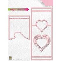 template perfuração: Magic Card, Coração