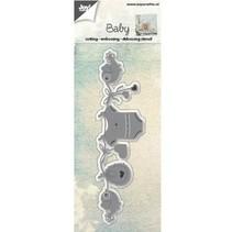 Troqueles de corte: corte, grabación en relieve y bajo relieve, bebé del tema