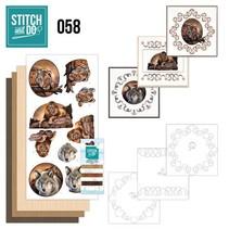 Carte set « Animaux sauvages » à brodez