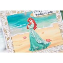 Matrices de découpe SET: timbre-poste Disney + Demure visage Ariel