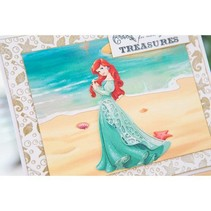 Troqueles de corte SET: Disney + dibujo de una cara comedido Ariel