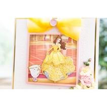 Troqueles de corte SET: Disney + dibujo de una cara de la princesa Belle Waltzing
