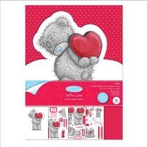Bastelset, A5, Glitter Kart Gestaltung, Me to You (I love you)