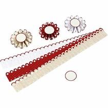 Kit Craft: ensemble matériel pour 6 pièces rosettes, D: 8 cm, 160 g