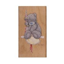 Moi de vous, tatty teddy, timbre en bois